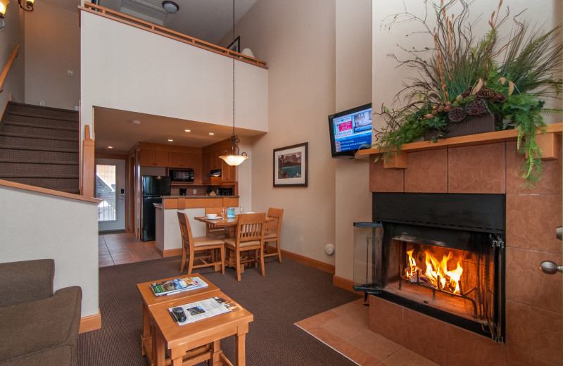 Guest room at Hidden Ridge Resort.
