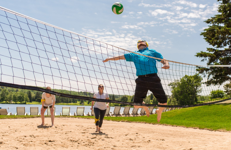 Beach volleyball at Deerhurst Resort.