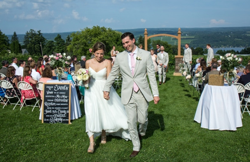Wedding Ceremonies at Glenora Wine Cellars