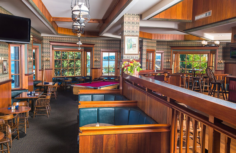 Dining at Painter's Lodge.