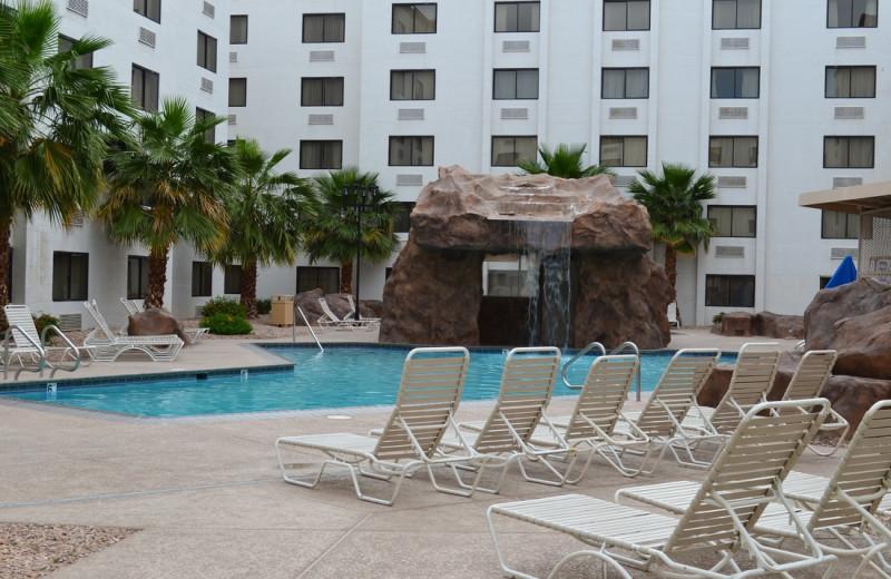 Outdoor pool at Colorado Belle Hotel & Casino.