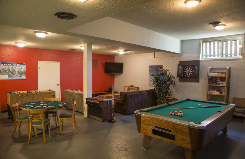 Game room at Red Tree Lodge.