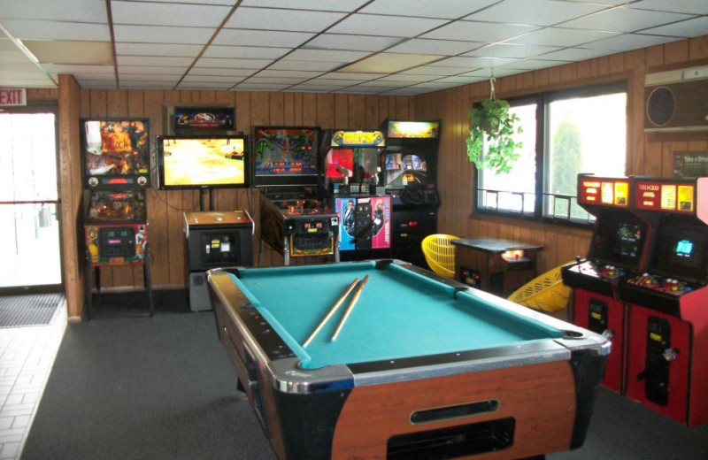Arcade Room at the Black Hawk Motel