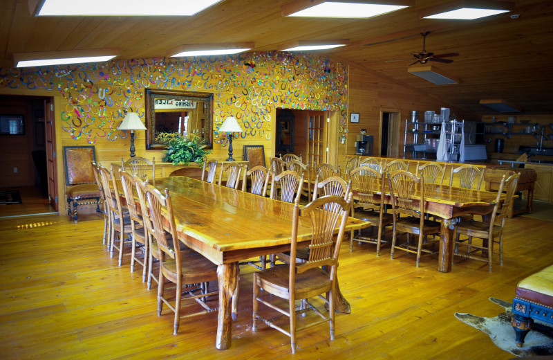 Dining at Buckhead Ranch.