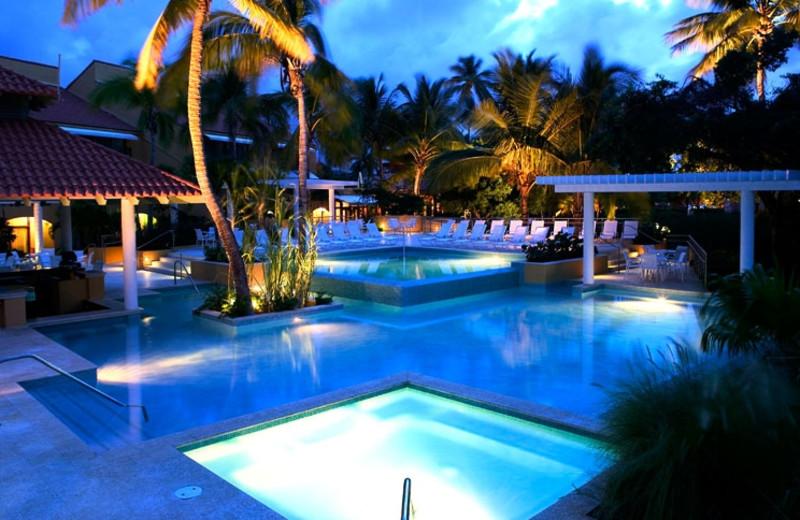 Outdoor pool at Wyndham Garden at Palmas del Mar.