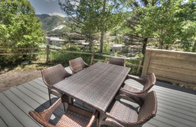 Vacation rental patio at SkyRun Vacation Rentals - Vail, Colorado.