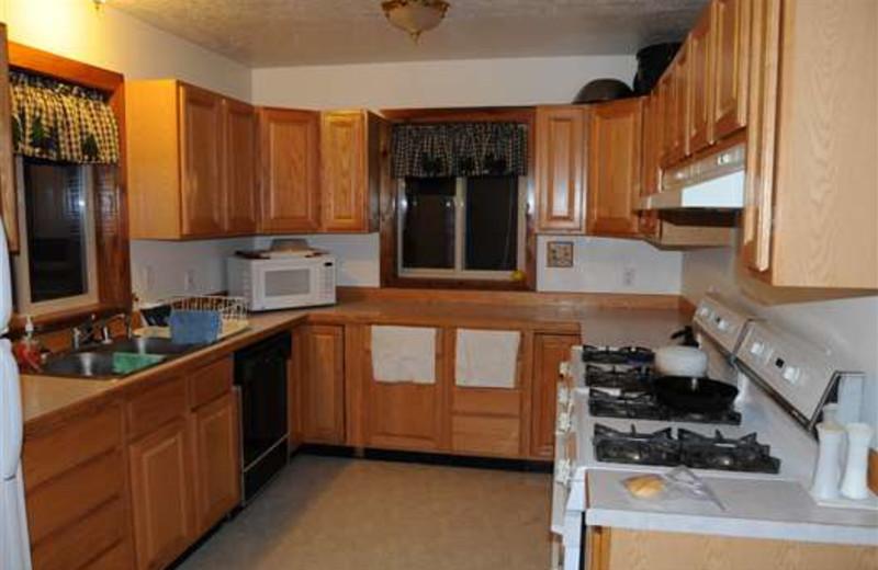 Kitchen at Gone Fishin' Lodge.