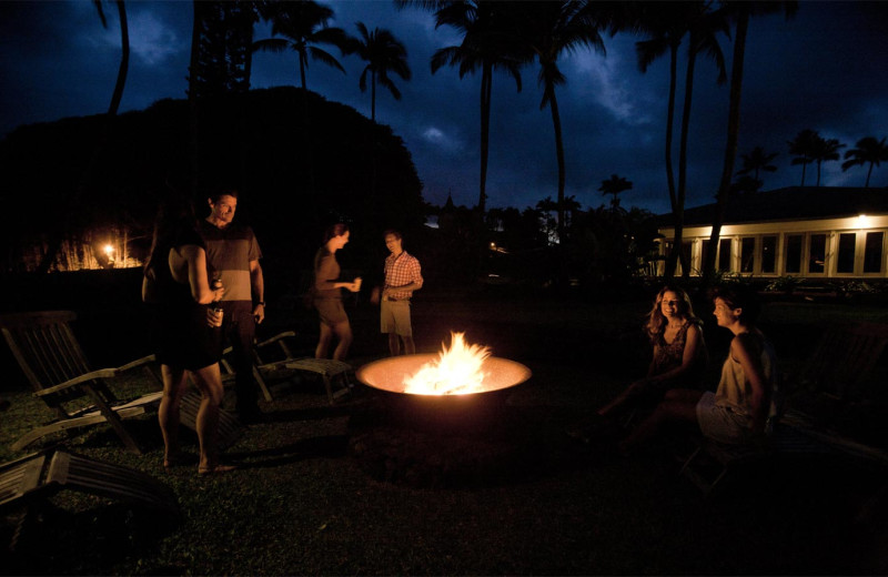 Bonfire at Travaasa Hana, Maui.