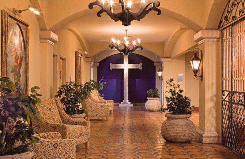 Lobby at Hotel Encanto.