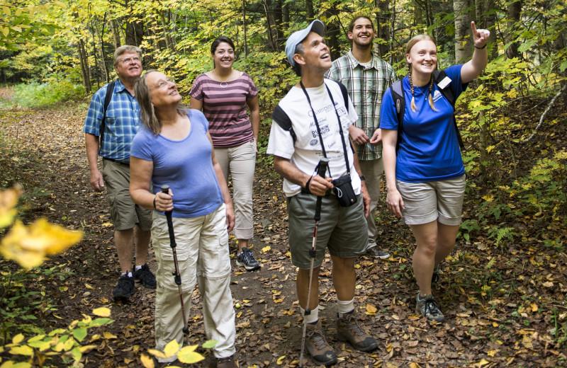 Nature hike at Smugglers' Notch Resort.