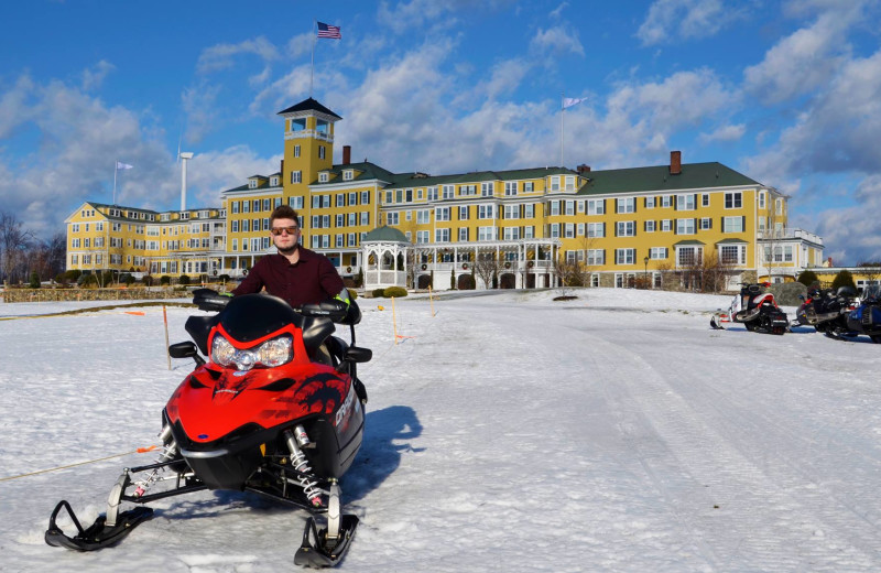 Snowmobiling at Mountain View Grand Resort & Spa.