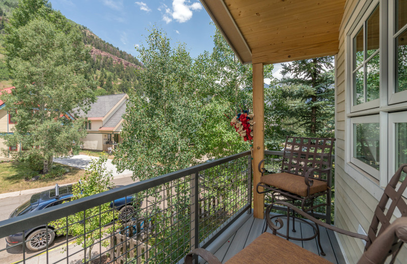 Rental deck at Accommodations in Telluride.
