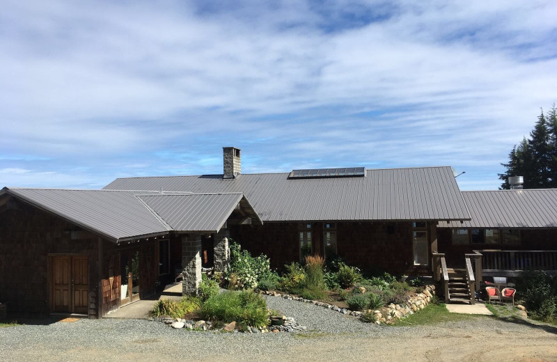 Exterior view of Wood Mountain Lodge.