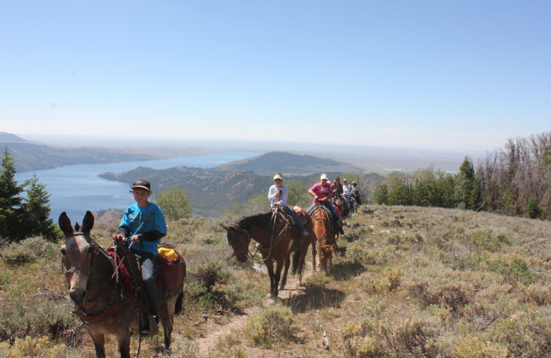 Horseback riding at Kendall Valley Lodge.