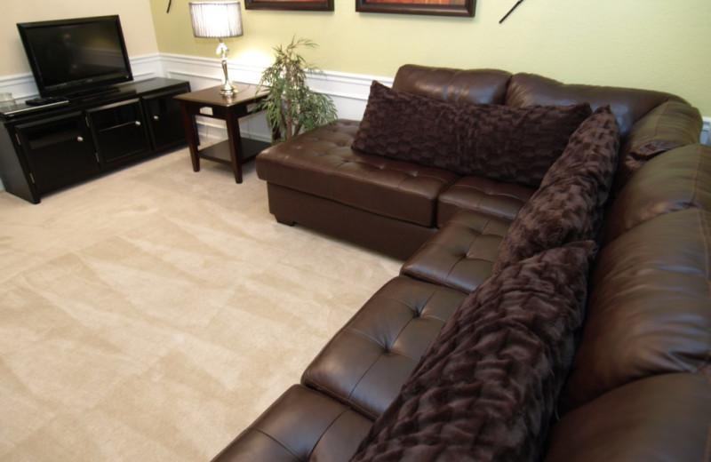 Vacation rental living room at Casiola Vacation Homes.