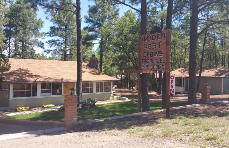 Exterior view of Hidden Rest Resort.