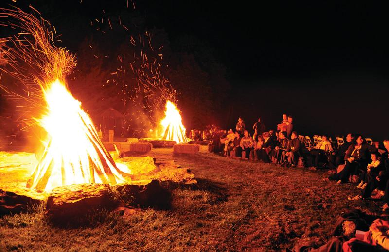 Bonfire at Fairmont Le Chateau Montebello.