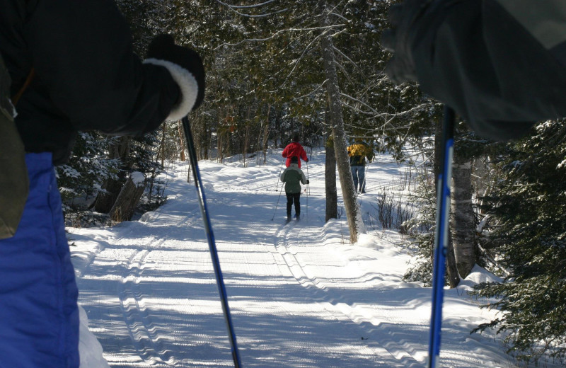 Skiing at Gunflint Lodge.