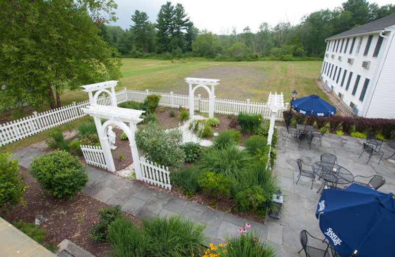 Garden and patio at The Litchfield Inn.