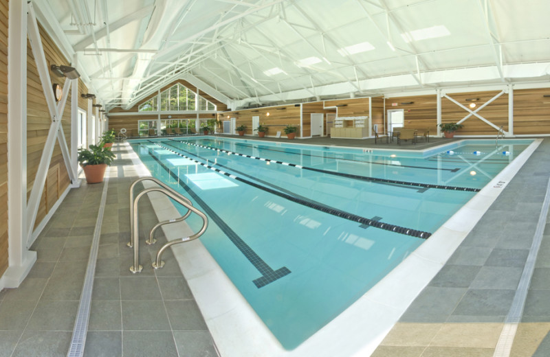 Indoor pool at Essex Resort & Spa.