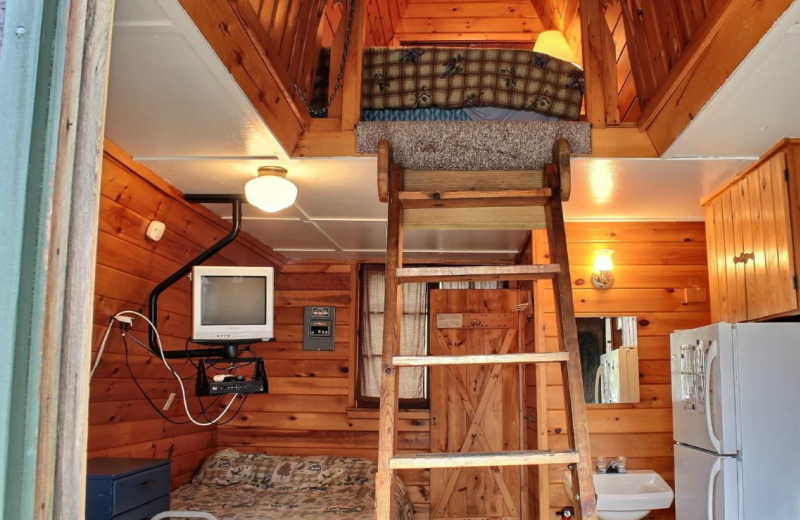 Cabin loft at Whaley's Resort & Campground.
