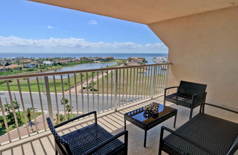 Rental balcony at La Isla VR - South Padre.