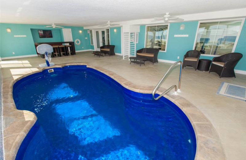 Rental indoor pool at Sandbridge Realty.
