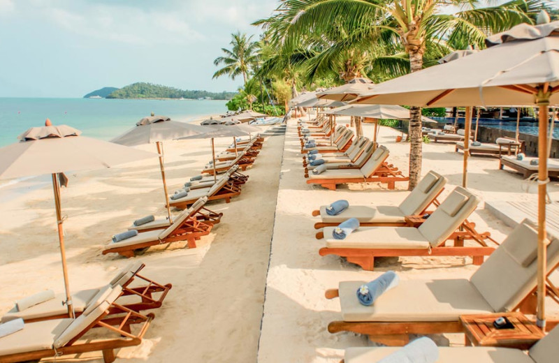 The beach at InterContinental Samui Baan Taling Ngam Resort.