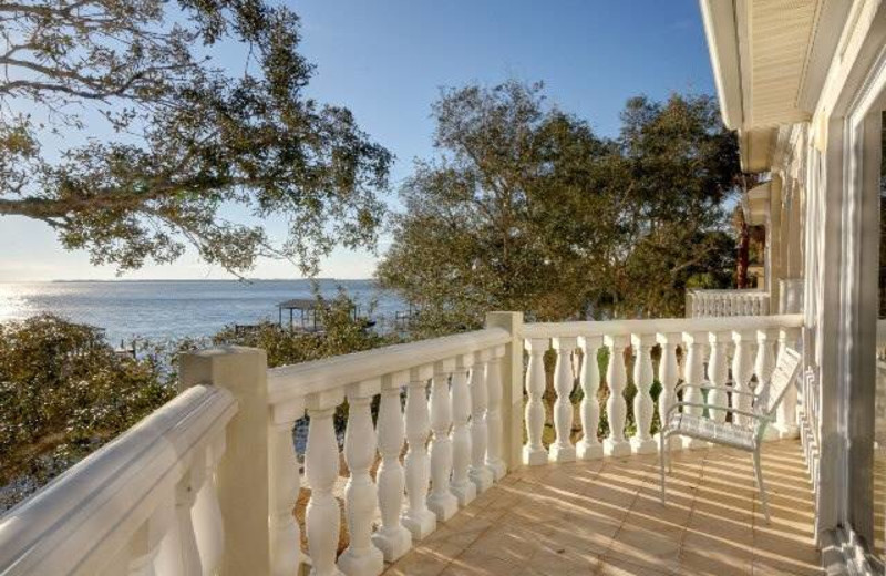 Balcony view at Bluewater Bay Resort.