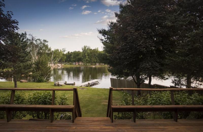 Rental lake view at Sand County Service Company - Dellview Lake Lodge.