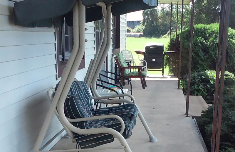 Porch at The Shady House Lodge and Retreat Center.