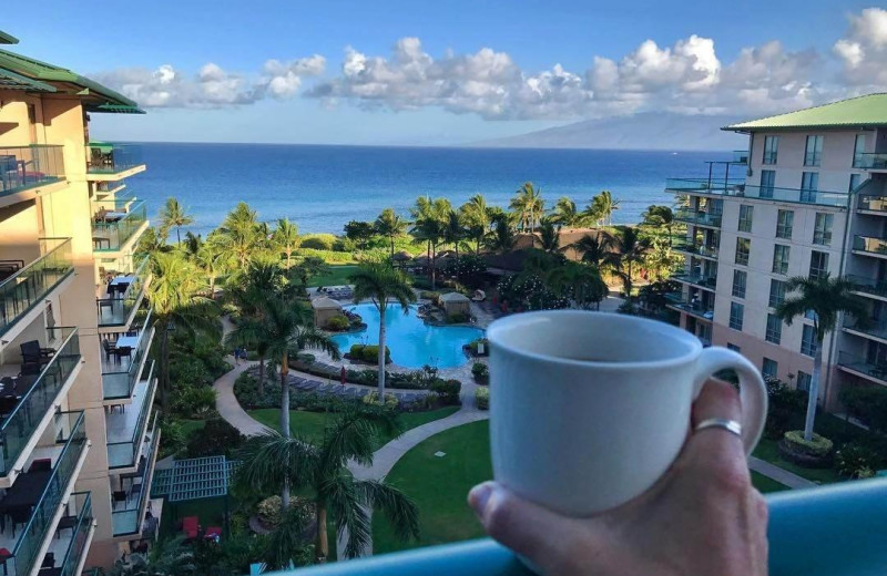 Guest balcony view at Honua Kai Resort & Spa.
