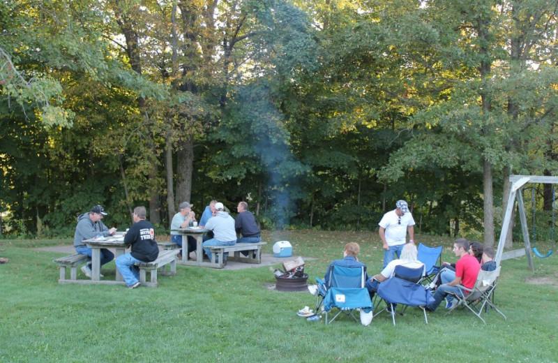 Family picnic at McQuoid's Inn & Event Center.
