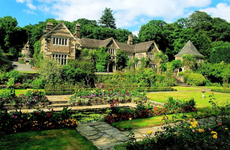 Exterior view of Lewtrenchard Manor.