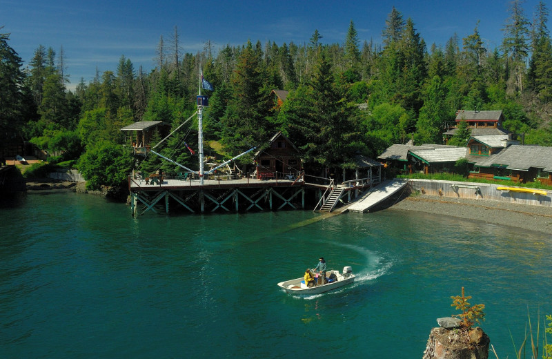 Exterior view of Kachemak Bay Wilderness Lodge.