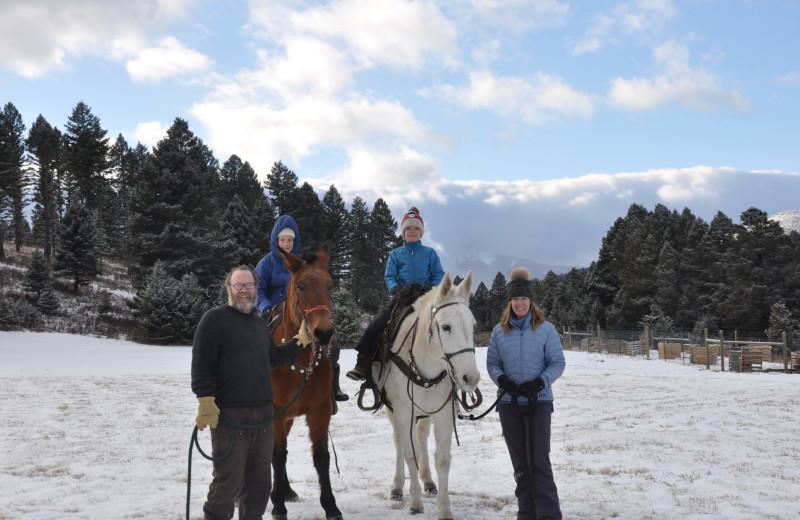 Family at Hardscrabble Ranch.