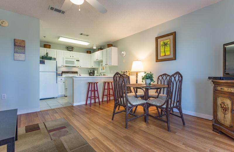 Rental kitchen at Grand Caribbean Resort.