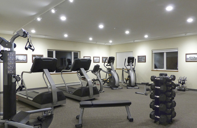 Fitness room at Wedgewood Resort.