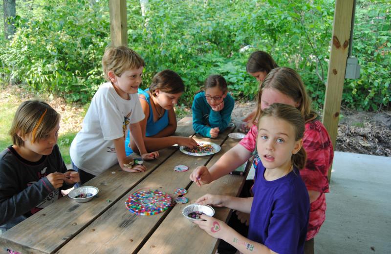 Kids at Sandy Pines Resort.