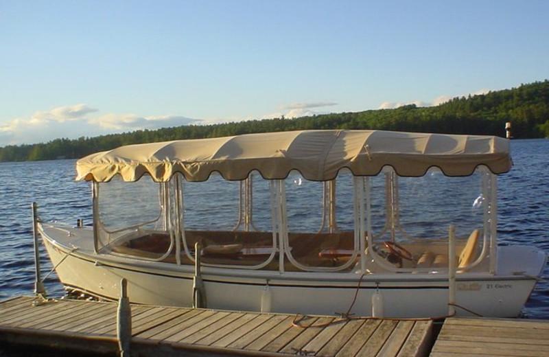 Boats at Highland Lake Resort.