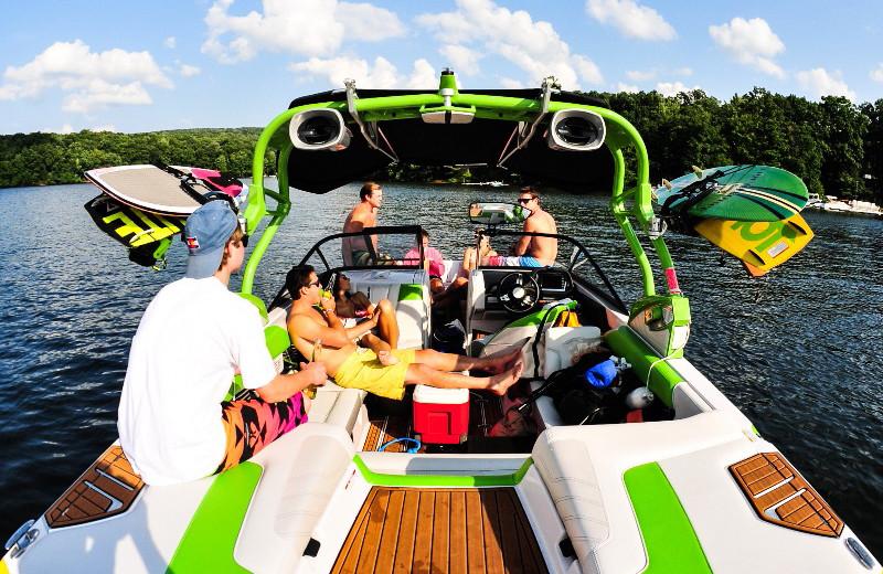 Boating at Taylor-Made Deep Creek Vacations.