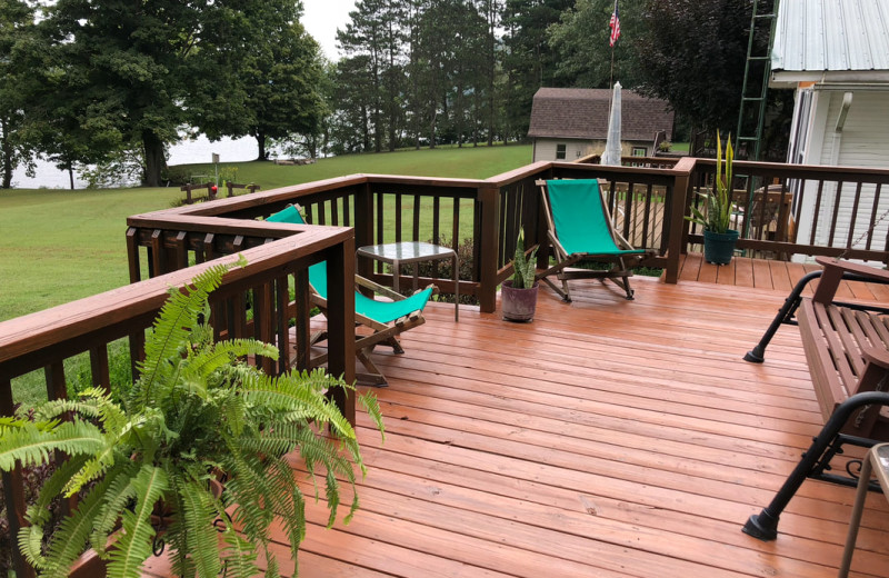 Rental porch at Cut Above Cabins.