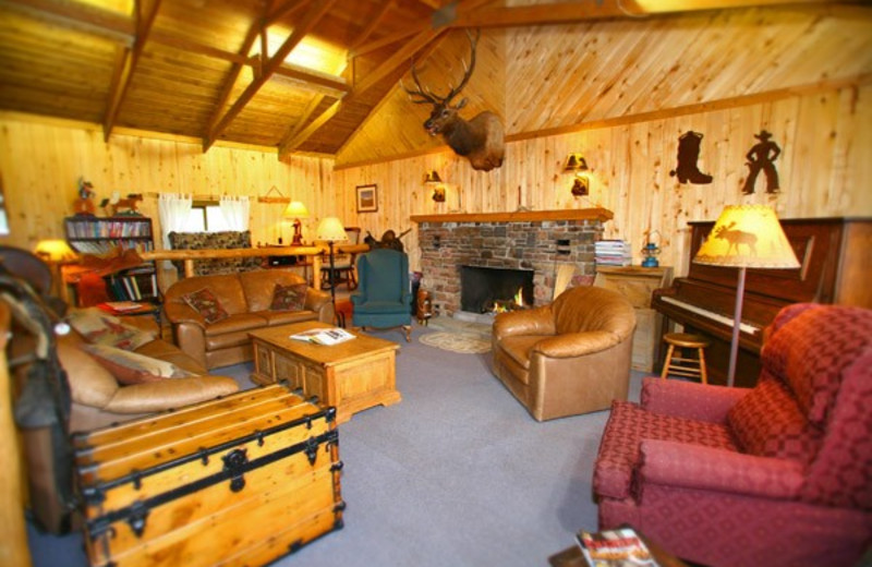 Lodge interior at Elk Mountain Ranch.