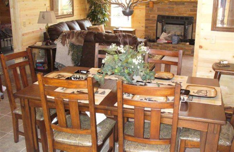 Dining room at Moose Canyon Lodge.