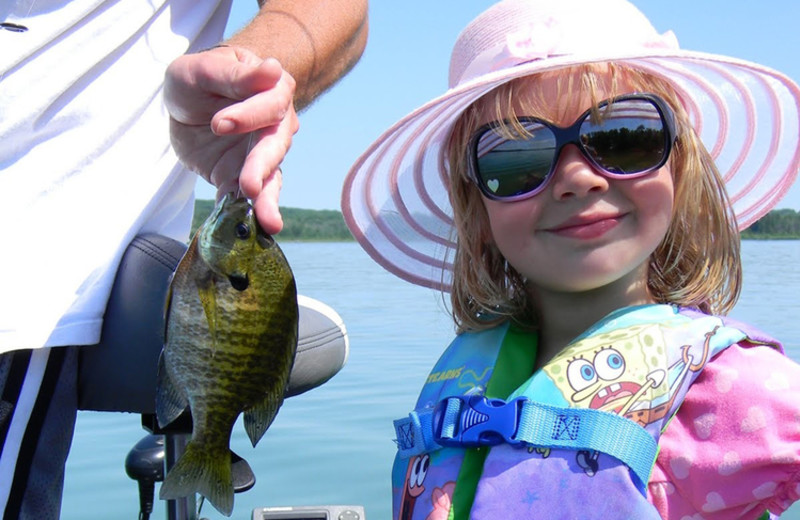 Great fishing at Janetski's Big Chetac Resort