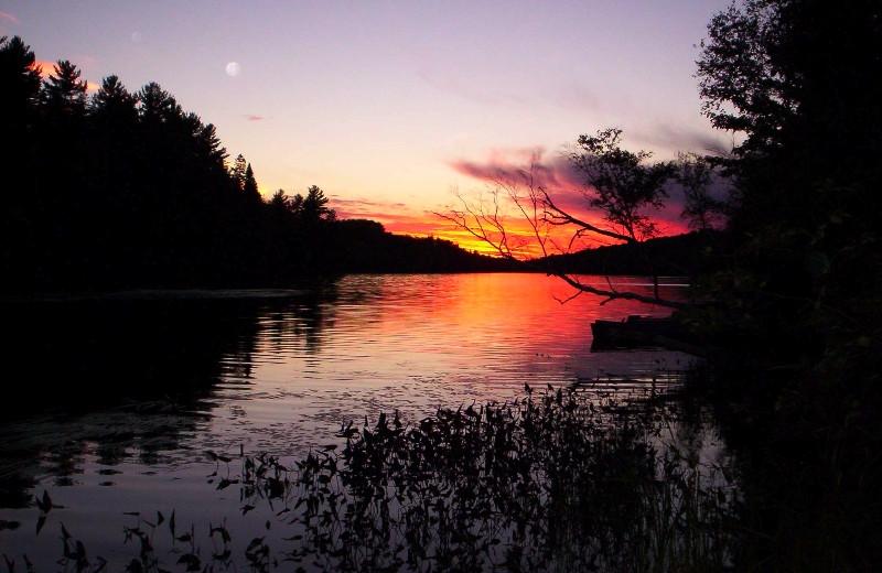 Sunset at Northern Lights Resort.