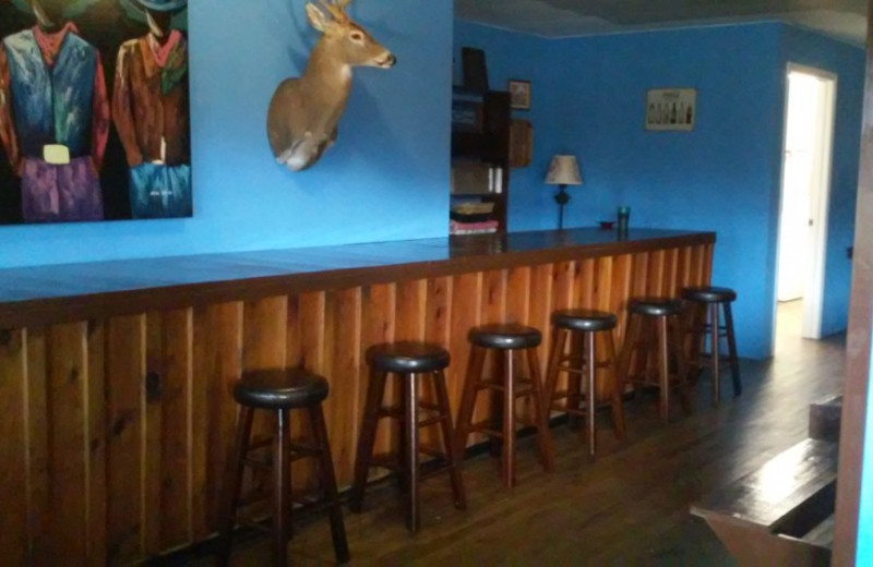 Bar at The Shady House Lodge and Retreat Center.