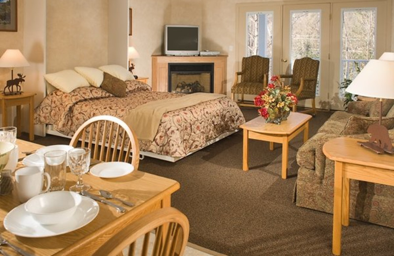 Attitash Mountain Village guest room at North Conway Lodging.