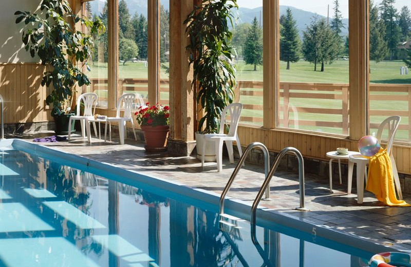 Indoor pool at Grouse Mountain Lodge.