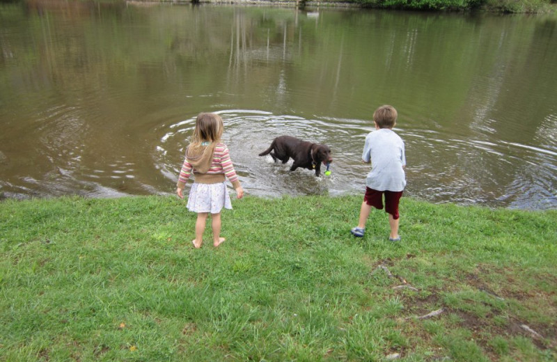 Lake fun at Mill House Lodge.